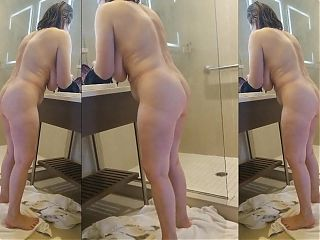 Sexy Grandma has an incredible body in the shower