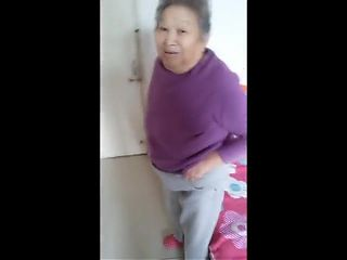Playing With Asian Granny