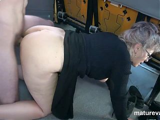 Horny Granny can't wait to cum