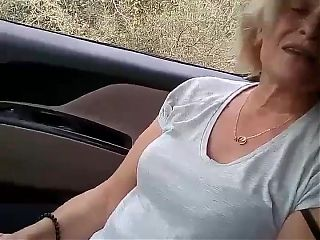 Blonde Turkish Granny Sucking