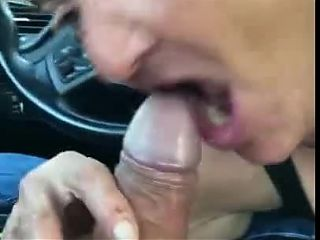 Blowjob in car in Miami with a granny