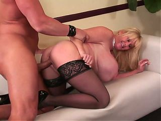 Mature Bitch with Monster Boobs gets fucked like a slut!!