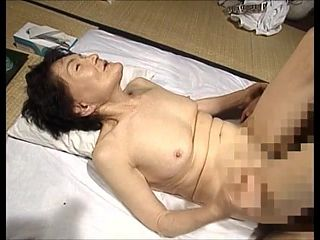 Granny Yokoshito Sahura with son. Censored. Amateur.