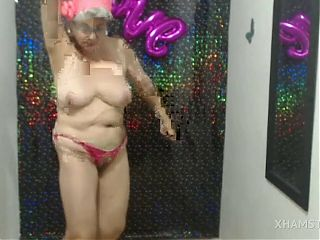 Colombian granny dancing naked