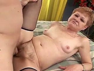 GRANNY GETS HER OLD TIGHT CUNT FUCKED