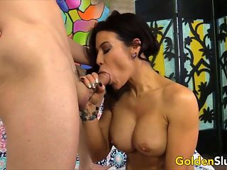 Golden Slut - Aunties Give Dick Melting Blowjobs Compilation