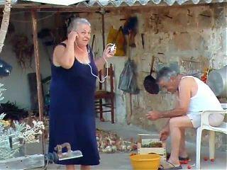 BBW italian Grandma Calls Grandpa to fuck